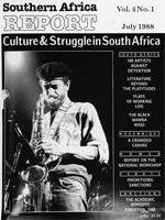 Southern Africa report, Vol. 4, No. 1