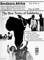 Southern Africa report, Vol. 7, No. 4