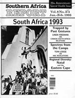 Southern Africa report, Vol. 8, No. 3-4