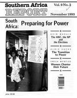 Southern Africa report, Vol. 9, No. 2