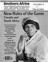 Southern Africa report, Vol. 9, No. 4