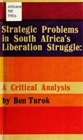 Strategic problems in South Africa's liberation struggle: a strategic analysis
