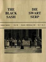 The Black Sash, Vol. 7, No. 4