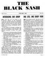 The Black Sash, Vol. 1, No. 1