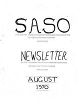 SASO newsletter, Aug. 1970