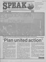 Speak: the voice of the community, Apr. 1986