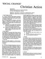Social change: Christian action