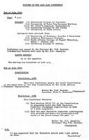 Minutes of the 1969 SASO Conference