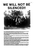 We will not be silenced