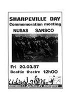 Sharpeville Day: commemoration meeting