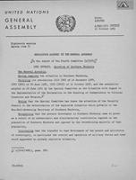 Eighteenth session Agenda item 75. Resolution adopted by the General Assembly on the Question of Southern Rhodesia.