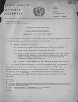 Thirteenth Session Agenda item 39 (a), (b) and (c). Question of South West Africa. Report of the Fourth Committee