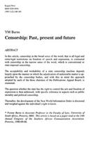 Censorship: Past, present and future