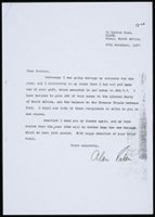 [Letter from A. Paton (South African Treason Trial Defense Funds, Kloof) to J. Buskes (Amsterdam) 30 Dec. 1957]