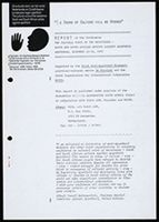 Report of the conference 'The Cultural Voice of the Resistance: Dutch and South African Artists against Apartheid,' Amsterdam, December 12-18, 1983 [sic: 1982]