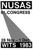 NUSAS 61st Congress, 28 November - 1 December, Wits, 1983