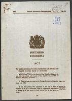 Southern Rhodesia Act