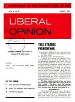 Liberal Opinion Vol.4 No.3 Aug 1965