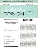 Liberal Opinion Vol.3 No.1 Jan 1964