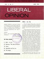 Liberal Opinion Vol. 2 No. 3 Jun 1963