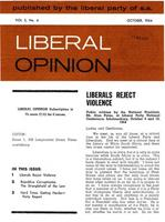 Liberal Opinion Vol. 3 No. 4 Oct 1964