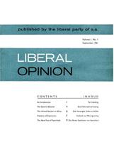 Liberal Opinion Vol. 1 No. 1 Sep 1961
