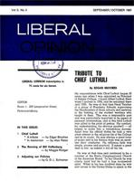 Liberal Opinion Vol. 5 No. 3 Sep-Oct 1967