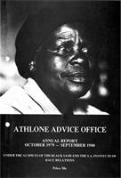 Athlone Advice Office Annual Report October 1979-September 1980 Under the Auspices of The Black Sash and The S.A. Institute of Race Relations