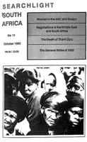 Searchlight South Africa, a marxist journal of Southern African studies, Vol. 3, No. 11