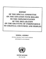 Report Of The Special Committee On The Situation With Regard To The Implementation Of The Declaration On The Granting Of Independence To Colonial Countries And Peoples. General Assembly. Official Records: Thirty-Eighth Session. Supplement No. 23