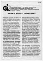 """Private Armies"" in Zimbabwe"