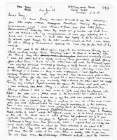[Handwritten letter from John Reed to Terence Ranger]