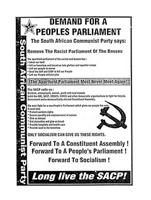 Demand for a People's Parliament, The South African Communist Party says: remove the racist parliament of the bosses