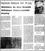 Women in the South African Communist Party