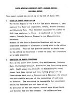 South African Communist Party (Border Region) Regional Report