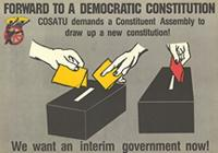 Forward to a democratic constitution