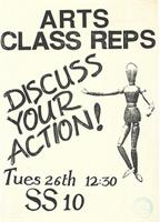 Arts class reps: Discuss your action