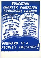 Education Charter Campaign Transvaal launch