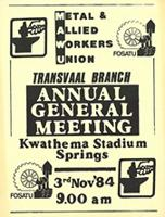 Metal and Allied Workers Union Annual General Meeting