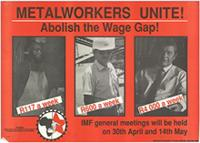 Metalworkers unite! : Abolish the wage gap!