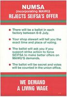 NUMSA (incorporating MAWU) rejects Seifsa's offer