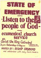 State of Emergency : Listen to the people of God