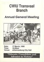 CWIU Transvaal Branch : Annual General Meeting