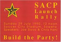 SACP Launch Rally: build the party