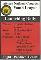 African National Congress Youth League : Launching rally