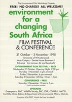 Environment for a changing South Africa : Film festival and conference