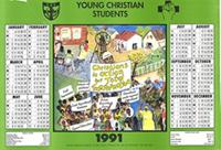 Young Christian Students Calendar 1991