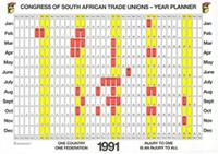 Congress of South African trade Unions: Year Planner 1991
