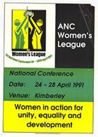 ANC Women's League : national conference