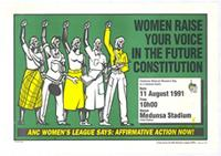 Women raise your voice in the future constitution